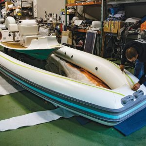 How To Clean The Adhesive Off Of An Inflatable Boat
